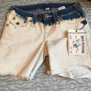 True Religion Ombré cut off shorts sz 24